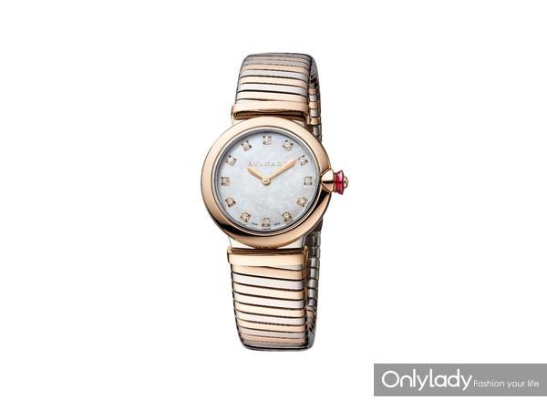 宝格丽LVCEA TUBOGAS间金款光环腕表102952,价格74,200元