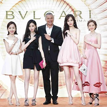 唐嫣、张天爱、唐艺昕、杨蓉现身 宝格丽LVCEA TUBOGAS光环腕表北京发布会