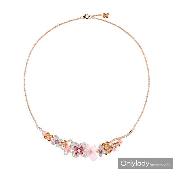 CHAUMET Hortensia绣球花系列项链