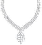 Celestia项链  包镶圆形明亮式切割钻石渐变为水滴形切割钻石,中央饰有可拆卸钻石流苏图案