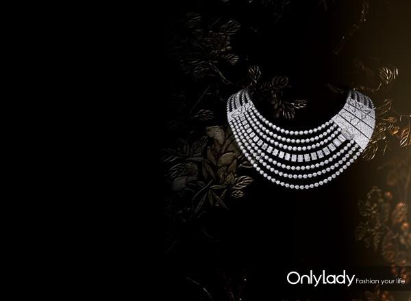 Chanel 香奈儿 臻品珠宝COROMANDEL系列Evocation_Florale项链,白18K金镶嵌钻石