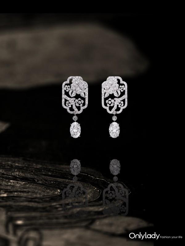 Chanel 香奈儿 臻品珠宝COROMANDEL系列FLEUR DE DIAMANT耳环