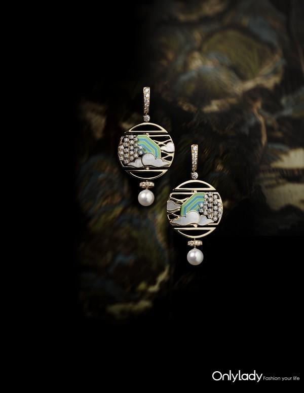 Chanel 香奈儿 臻品珠宝COROMANDEL系列Vibration Minerale耳环