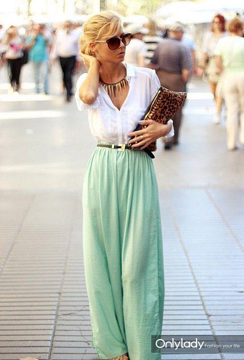 db63bd9f041e8f49062ef9ee1f681168--mint-maxi-skirts-mint-skirt