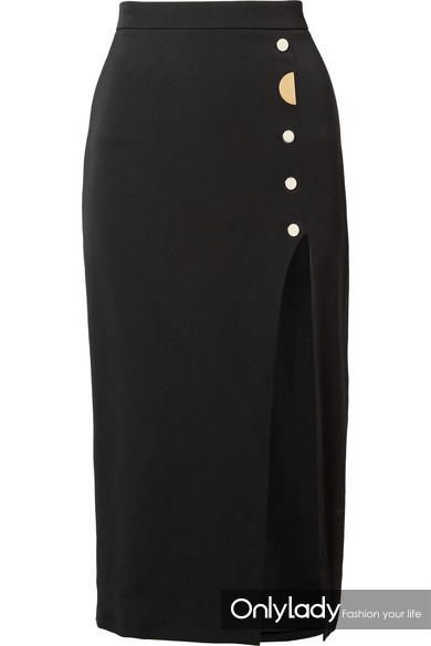 CUSHNIE ET OCHS Dahlia 带缀饰弹力真丝绉纱铅笔半身裙 RMB 6,000