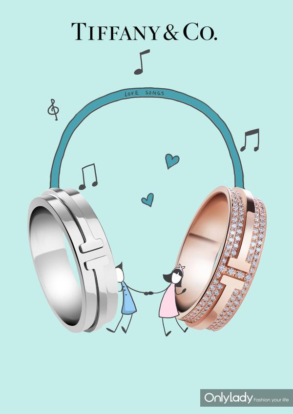 Tiffany & Co. ��ܽ��Tϵ��T Two 18K��õ��������ָ