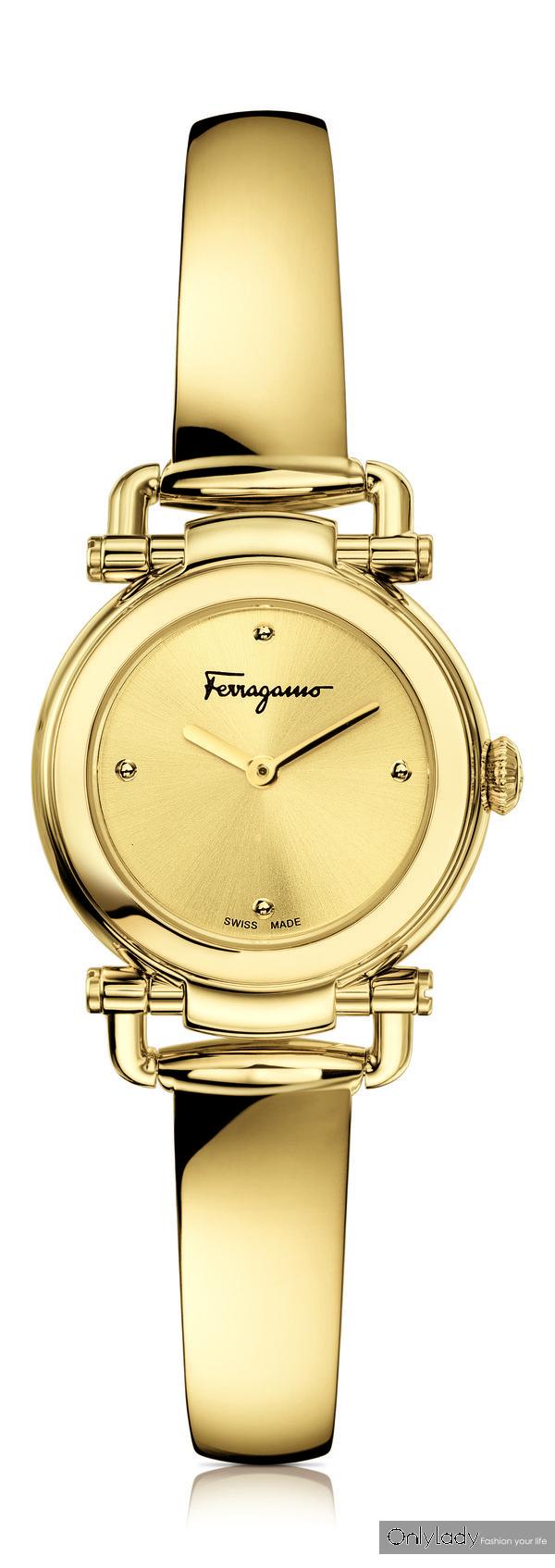 FERRAGAMO CASUAL 金色手镯款