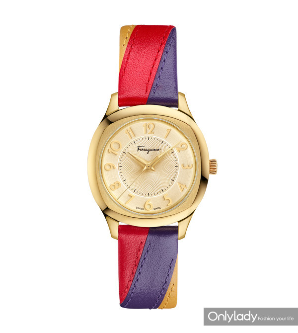 FERRAGAMO TIME LADY 香槟色表盘