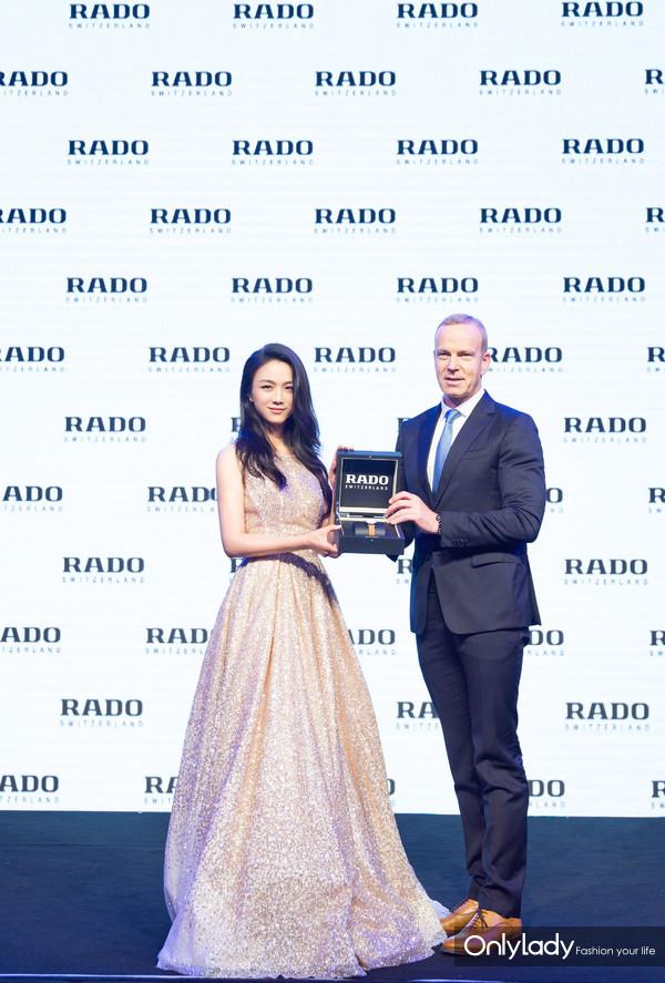 4.RADO瑞士雷达表全球CEO Matthias Breschan先生与全球品牌代言人汤唯小姐共同揭幕全新DiaMaster钻霸钻石系列腕表