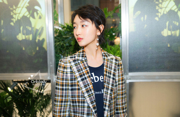 Zhou Dongyu at an event