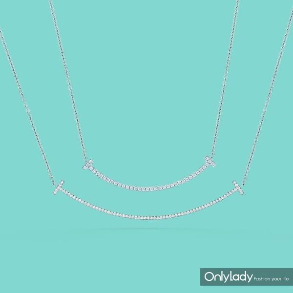 Tiffany & Co. ��ܽ��Tϵ��T Smile 18K����Ƕ��ʯ��������������