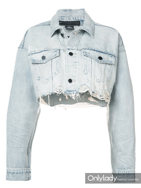 ALEXANDER WANG cropped loose denim jacket