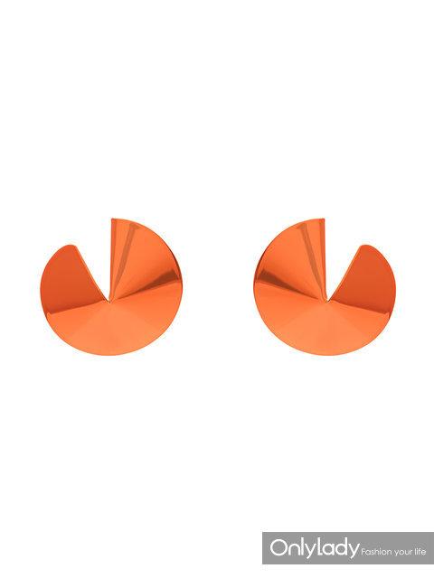 GAVIRIA 橘色幸运饼干耳环