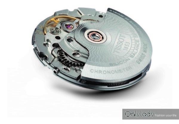 图6:天梭杜鲁尔系列腕表机芯采用机械动力80机芯