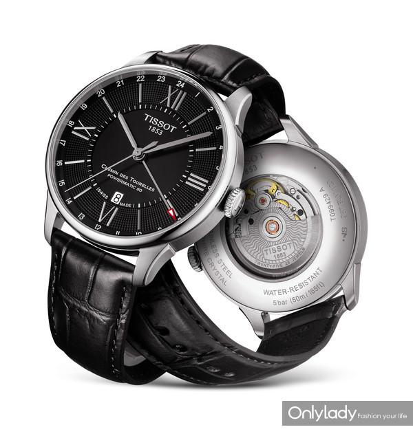 图14:天梭杜鲁尔系列两地时腕表