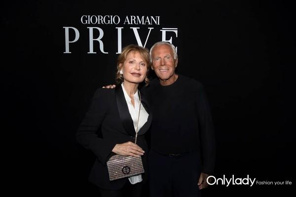 Lilli Gruber and Giorgio Armani - credit SGP