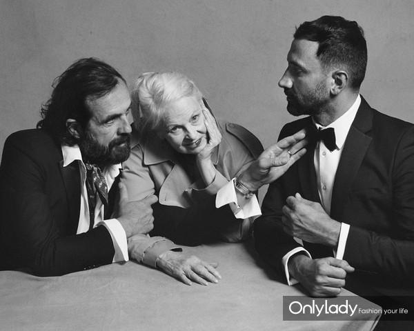 Portrait of Riccardo Tisci, Vivienne Westwood and Andreas Kronthaler c C...