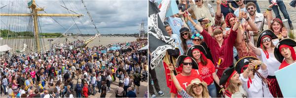 波尔多葡萄酒节20周年:美酒文化盛宴与高桅帆船赛碰撞