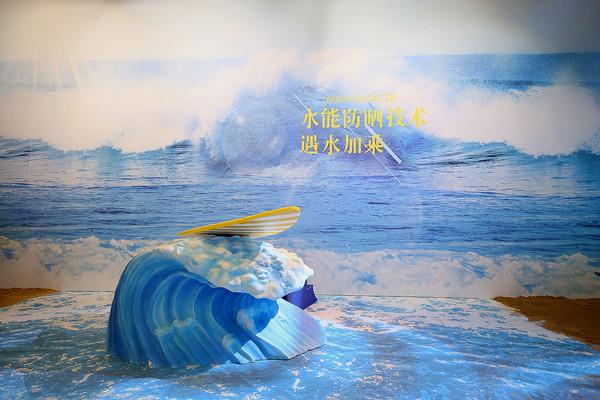 图六:安热沙Aqua Booster水能防晒技术:遇水加乘
