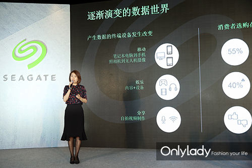 希捷科技中国区渠道业务总监朱凝希女士介绍希捷乐备宝