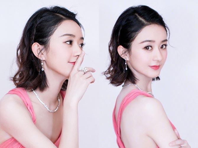 """赵丽颖被封史上""""最美女儿国国王""""  新发型.."""