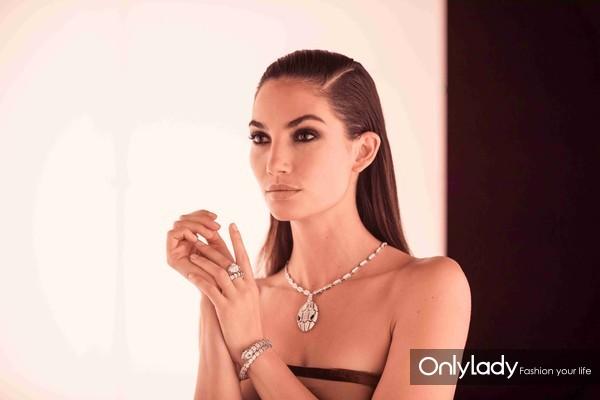 Lily Aldridge佩戴BVLGARI宝格丽全新Serpenti系列珠宝