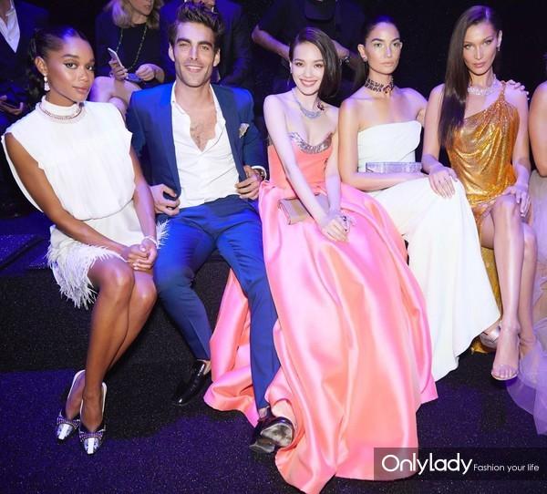 (从左至右)演员Laura Harrier、模特Jon Kortajarena、宝格丽品牌代言人舒淇、宝格丽品牌代言人Lily Aldrid...