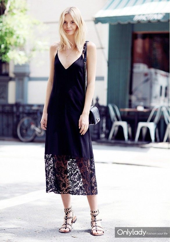 slip-dres-party-night-out-lace-black-dress-midi-dress-gladiator-studded-sandals-via-www