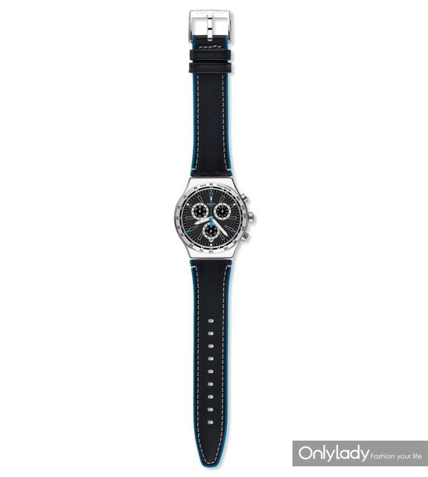 Swatch蓝色细节腕表(型号:YVS442)