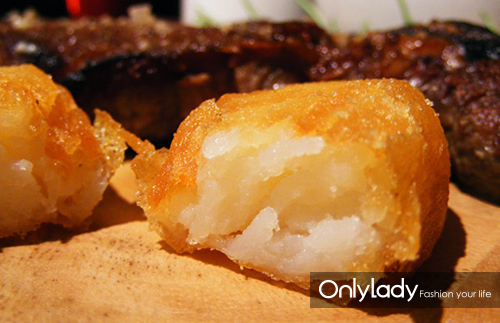 土豆切成截面约为一平