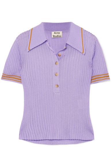 ACNE STUDIOS Shanita 罗纹针织 Polo 衫 RMB 2,500