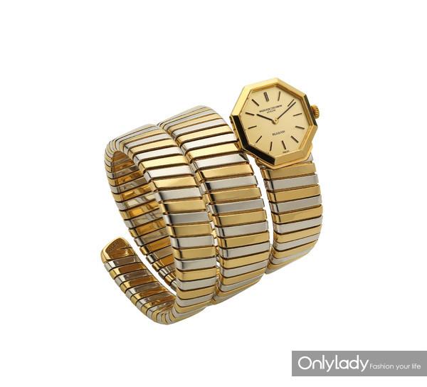宝格丽Tubogas双色金腕表,创作于1970年