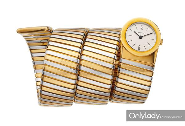 宝格丽Tubogas双色金腕表,创作于1985年