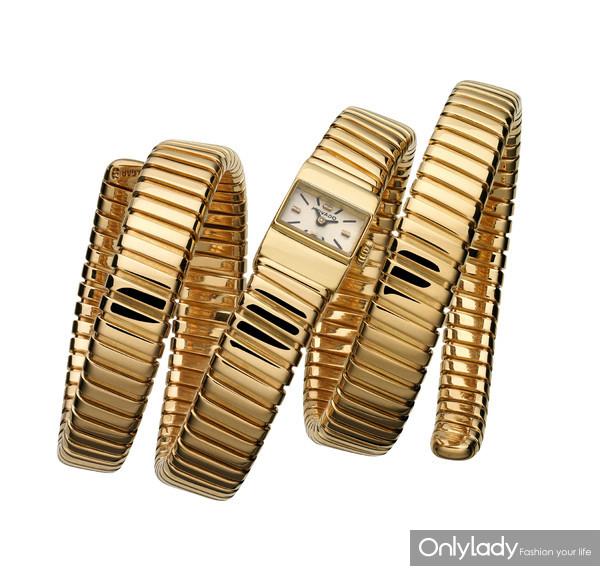 宝格丽Tubogas黄金腕表,创作于1960年