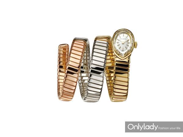 宝格丽Serpenti Tubogas三色金腕表,创作于1960年
