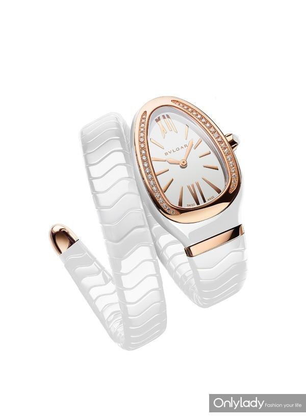宝格丽Serpenti Spiga白陶瓷腕表