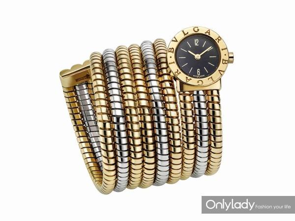 宝格丽BVLGARI BVLGARI Tubogas双色金腕表,创作于1980年