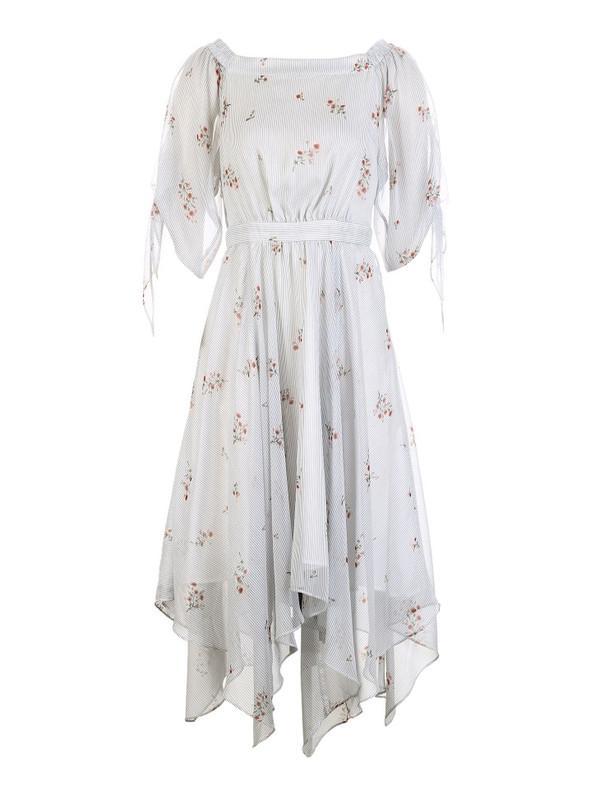 VERO MODA 条纹绑带五分袖连衣裙 RMB 649