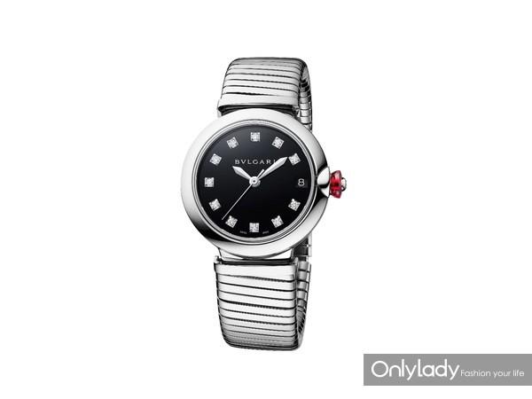 宝格丽LVCEA TUBOGAS精钢光环腕表102953,价格50,500元