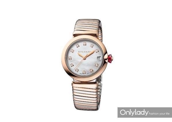 宝格丽LVCEA TUBOGAS间金款光环腕表102954,价格85,000元