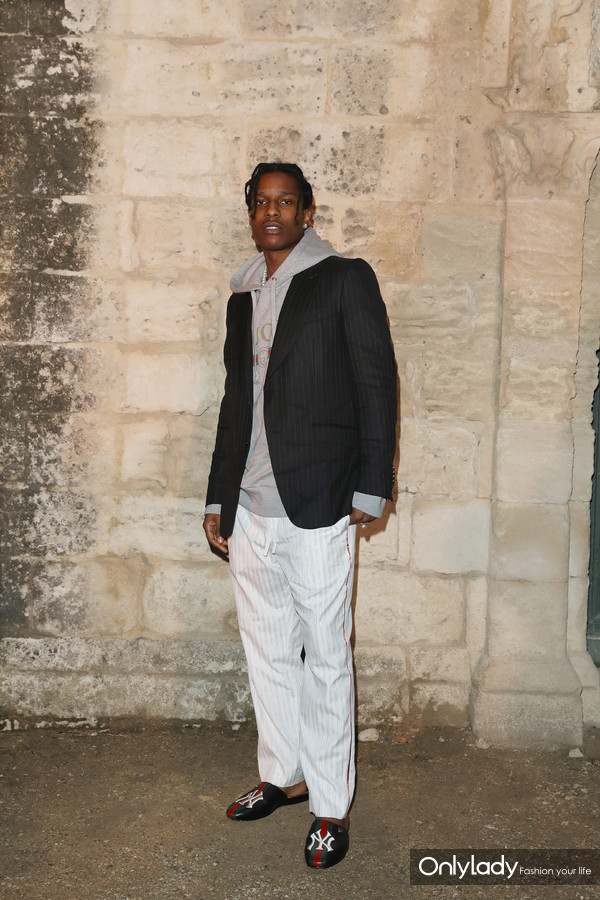 A$AP Rocky@Gucci 2019 Cruise Fashion Show