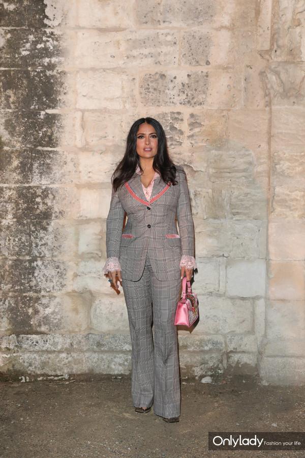Salma Hayek Pinault@Gucci 2019 Cruise Fashion Show