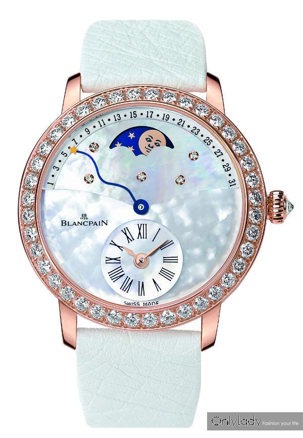 1. 宝珀Blancpain月亮美人偏心日期逆跳腕表