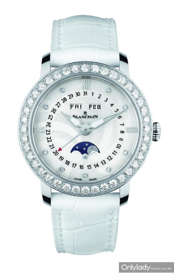 4. 宝珀Blancpain月亮美人全历月相腕表