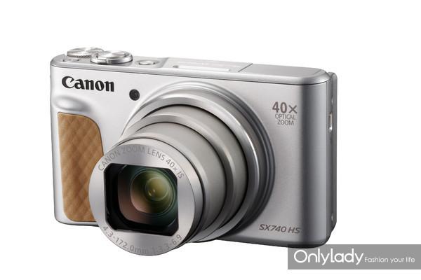 佳能PowerShot SX740 HS小型数码相机(银色款)