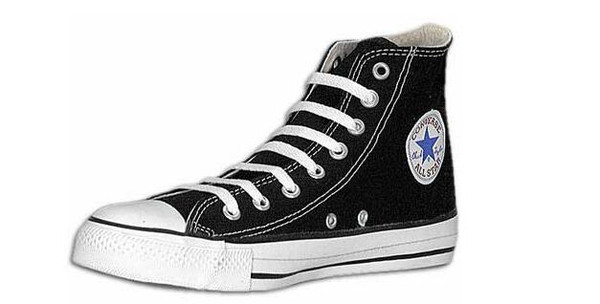 The classic black and white high top was introduced in 1949.