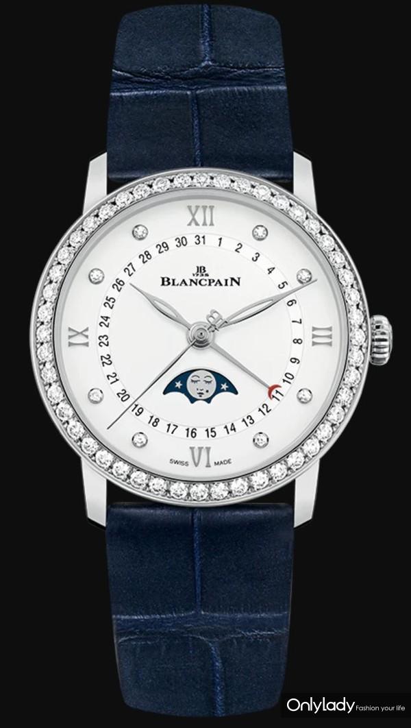 宝珀全新Villeret经典系列女装月相日历腕表(1)
