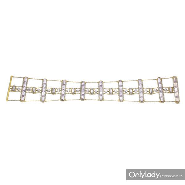 18K黄金和铂金镶嵌紫锂辉石项链,来自蒂芙尼古董珍藏库2