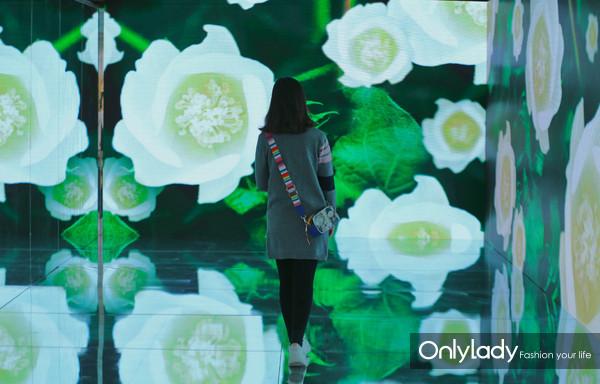 """在""""棉""""大片打造的360度沉浸式光影空间内,观众一秒穿越感受棉的美丽风光"""