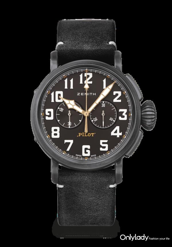 真力时PILOT飞行员Type 20 Chronograph Ton Up Black腕表